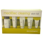 Dermalogica Medibac Clearing Skin Kit 1.7oz Clearing Skin Wash, 0.75oz Sebum Clearing Masque, 0.5oz Clearing Mattifier, 0.5oz Overnight Clearing Gel, 0.1oz Concealing Spot Treatment