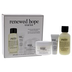 Philosophy Renewed Hope Trail Kit 2oz Purity Made Simple 3-in-1 Cleanser, 0.25oz Renewed Hope In A Jar Eye Cream, 1oz Renewed Hope In A Jar Refreshing Moisturizer