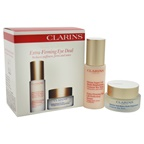 Clarins Extra Firming Eye Deal Set 0.5oz Extra Firming Eye Lift Perfecting Serum, 0.5oz Extra Firming Eye Wrinkle Smoothing Cream