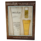 Decleor Cleansing & Hydrating Ritual Kit 3.3oz Aroma Clease, 0.16oz Aromessence Neroli Serum, 0.5oz Hydra Floral Cream