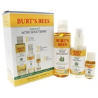 Burt's Bees Natural Acne Solutions 3 Step Regimen Kit 5oz Purifying gel Cleanser, 2oz Daily Moisturizing Lotion, 0.26oz Targeted Spot Treatment