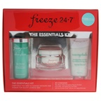 Freeze 24.7 The Essentials Kit 3.3oz Skin Glace Daily Detoxifying Cleanser Mask, 2.5oz IceCrystals Anti-Aging Prep And Polish, 1.7oz IceCream Double Scoop Intensive Anti-Aging Moisturizer