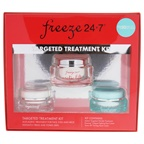 Freeze 24.7 Targeted Treatment Kit 0.33oz Instant Targeted Wrinkle Treatment, 0.60oz Eyecing Fatigue Fighting Eye Cream, 1.7oz Arctic Lift Firming Neck Cream