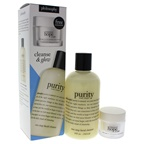 Philosophy Cleanse & Glow 8oz Purity Made Simple One Step Facial Cleanser, 0.5oz Renewed Hope In A Jar