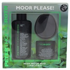Peter Thomas Roth Irish Moor Mud Kit 1.7oz Irish Moor Mud Purifying Black Mask, 4.2oz Irish Moor Mud Purifying Cleansing Gel, Masktasker Mask Application & Removal Tool