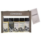 Cowshed Pocket Cow Bath & Body Set 1oz Lazy Cow Soothing Bath & Shower Gel, 1oz Cowlick Gentle Shampoo, 1oz Saucy Cow Softening Conditioner, 1oz Wild Cow Invigorating Bath & Shower Gel, 1oz Knackered Cow Rela