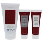 Korres Wild Rose From AM to PM Travel set 2.5oz Exfoliating Cleanser, 0.67oz Sleeping Facial, 0.67oz 24 Hour Moisturizer