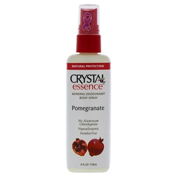 Crystal Distributors Essence Mineral Deodorant Body Spray Pomegranate Deodorant Spray