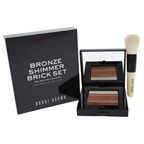 Bobbi Brown Shimmer Brick Compact Duo - Bronze 0.4oz Shimmer Brick Compact, Mini Face Blender Brush