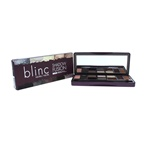 Blinc Blinc Shadow Fusion Palette - Neutral 6 x 0.03oz in Moonstone, Gymsum, Citrine, Obsidian, Graphite & Terra, 4 x 0.06oz in Hyaline, Cinnabar, Amber & Sienna, Shade & Blend Duo Brush