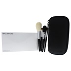 Shu Uemura Portable Makeup Brush Set Face Brush, Cheek Brush, Eye Shadow Brush, Lip Eye Liner Brush