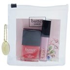 Butter London Pink Pops Lip & Tips Collection 0.2oz Lippy Liquid Lipstick - Tickled Pink, 0.4oz Nail Lacquer - Macbeth
