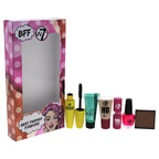 W7 Best Friends Forever 0.07oz Honolulu Bronzing Campact, 0.28oz Tea Tree Conclear Tube, 0.28oz HD Foundation Tube, 0.17oz Nail Polish, 0.03oz Full Color Lipstick, 0.21oz Lashtastic Mascara