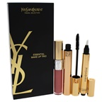 Yves Saint Laurent Essential Make-Up Trio 0.2oz Volume Effect Faux Cils Mascara - # 1, 0.1oz Touche Eclat - # 02, 0.20oz Lip Gloss - # 19