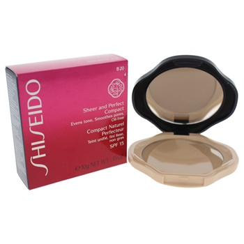 Shiseido Sheer and Perfect Compact SPF 15 - # B20 Natural Light Beige Foundation