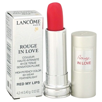 Lancome Rouge In Love High Potency Color Lipstick - # 187M Red My Lips
