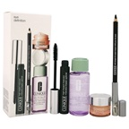 Clinique Eye Definition Kit 0.04 Kohl Shaper for Eyes - Black, 0.28oz High Impact Mascara - Black, 1.7oz Take the Day Off Makeup Remover for Lids Lashes & Lips, 0.21oz All About Eyes Gel-Cream