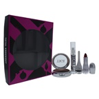 TIGI Total Knockout Set 0.301oz Hight Density Quad Eyeshadow - Love Affair , 0.11oz Luxe Lip Gloss - Dumb Blonde, 0.14oz Decadent Lipstick - Fierce, 0.10oz Creme Eyeliner - Graphite