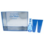 Davidoff Cool Water 3.4oz EDT Spray, 2.5oz Gentle Shower Breeze, 2.5oz Moisturizing Body Lotion