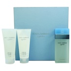 Dolce & Gabbana Light Blue 3.3oz EDT Spray, 3.3oz Refreshing Body Cream, 3.3oz Energy Body Bath & Shower Gel