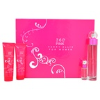 Perry Ellis 360 Pink 3.4oz EDP Spray, 3oz Body Lotion, 3oz Shower Gel, 0.25oz EDP Spray