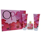 Ocean Pacific Op Beach Paradise 3.4oz EDP Spray, 8.5oz Shimmer Body Lotion, 8.5oz Moisturizing Shower Gel