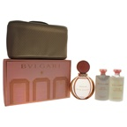 Bvlgari Rose Goldea 3.04oz EDP Spray, 2.5oz Body Milk, 2.5oz Bath & Shower Gel, Beauty Pouch