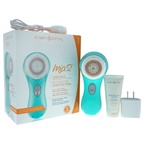 Clarisonic Mia 2 Facial Sonic Cleansing System - Sea Breeze Sea Breeze Mia 2, Universal Voltage Plink Charger, Sensitive Brush Head, 1oz Refreshing Gel Cleanser, Protective Travel Case