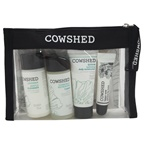 Cowshed Skincare Essential Starter Kit 1oz Lavender Gentle Cleanser, 1oz Chamomile Refreshing Toner, 0.68oz Quinoa Hydrating Daily Moisturiser, 0.18oz Lippy Cow Natural Lip Balm, Good Clean Fun