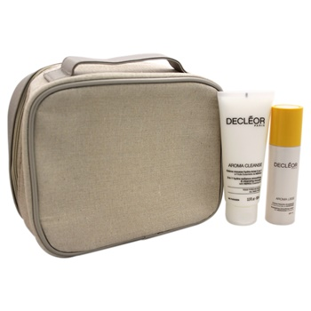 Decleor Anti-Wrinkle Skincare Ritual Kit 3.3oz 3 in 1 Hydra-Radiance Smoothing & Cleansing Mousse, 0.16oz Aromessence Mandarine Smoothing Oil Serum, 1.69oz Aroma Lisse Energising Smoothing Cream SPF 15