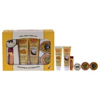 Burt's Bees Tips & Toes Kit 0.3oz Hand Salve, 0.25oz Almond & Milk Hand Cream, 0.3oz Lemon Butter Cuticle Cream, 0.75oz Coconut Foot Cream, 0.75oz Honey & Grapeseed Hand Cream, 0.15oz Pomegranate Moisturizing Lip
