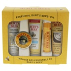 Burt's Bees Essential Burt's Bees Kit 1oz Body Lotion with Milk & Honey, 0.3oz Hand Salve, 0.75oz Soap Bark & Chamomile Deep Cleansing Cream, 0.75oz Coconut Foot Cream, 0.15oz Beeswax Lip Balm with Vitamin E & Pe