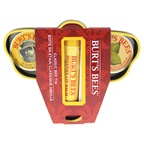 Burt's Bees Classic Bee Tin Kit 0.15oz Beeswax Lip Balm With Vitamin E & Peppermint, 0.3oz Hand Salve, 0.3oz Lemon Butter Cuticle Cream