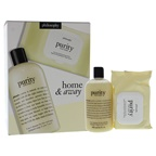 Philosophy Purity Home and Away Duo 16oz 3-in-1 Cleanser for Face and Eyes, 30 Facial Cleansing Cloths