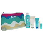 Coola Classic Sport Organic Suncare Travel Set 3.4oz Classic Sport SPF 50 Guava Mango Spray, 2oz ER+ Radical Recovery After-Sun Lotion, 0.85oz Classic Face Sport SPF 50 - White Tea, 0.15 Liplux SPF 30 Origi