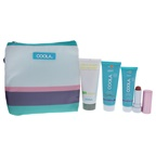 Coola Mineral Suncare Travel Set 2oz ER+ Radical Recovery After-Sun Lotion, 0.85oz Mineral Face SPF 30 - Matte Tint, 1.5oz Mineral Sport SPF 30 - Citrus Mimosa, 0.15oz Mineral Liplux SPF 30 - Nude Beach, Tr