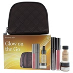 Perricone MD Glow on the Go 0.3oz No Foundation Foundation Serum, 0.28oz No Mascara Mascara, 0.11oz No Lipgloss Lipgloss,0.25oz Hypoallergenic Firning Eye Cream, Travel Pouch