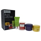 Rodial Hero Collection 1.7oz Stemcell Super-Food Cleanser, 0.7oz Super Acids X-Treme Acid Rush Peel, 0.3oz Dragon's Blood Sculpting Gel, 0.5oz Bee Venom Moisturiser